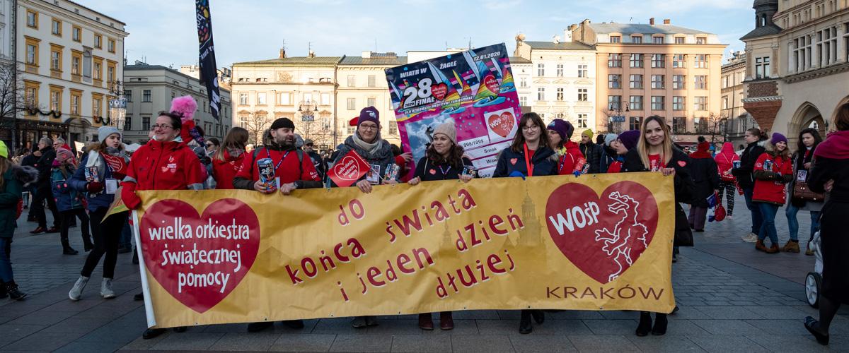 Wielka Orkiestra Świątecznej Pomocy 2020 w Krakowie – fotorelacja